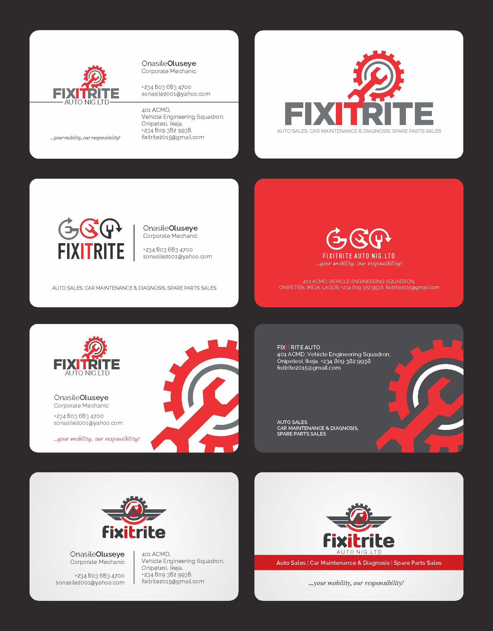 Business Cards Automotive Sales Image collections - Card Design And ...